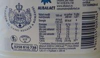 Zuzu Lapte de consum 1,5% - Información nutricional - ro