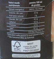 Bardezzi Lapte pentru cafea 3,5% - Nutrition facts - ro