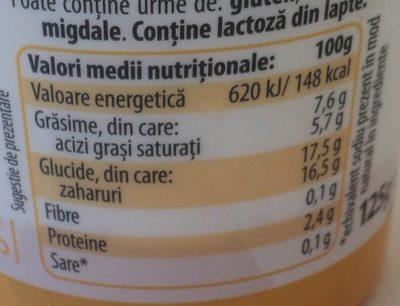 Zuzu Dolce Desert din iaurt si branza mascarpone cu crema cu gust de Limoncello - Nutrition facts - ro