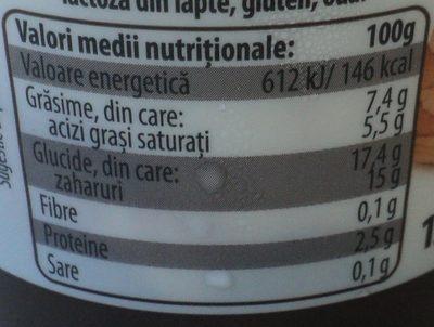 Zuzu Dolce Desert din iaurt si branza mascarpone cu crema cu gust de Tiramisu - Nutrition facts - ro