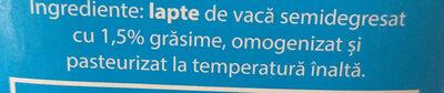 SIM Lapte de consum 1,5% grasime - Ingredientes - ro