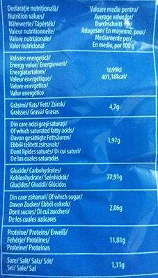 Pesmet Boromir - Nutrition facts