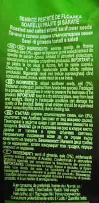 Nutline Seminte Pestrite - Ingrédients - fr