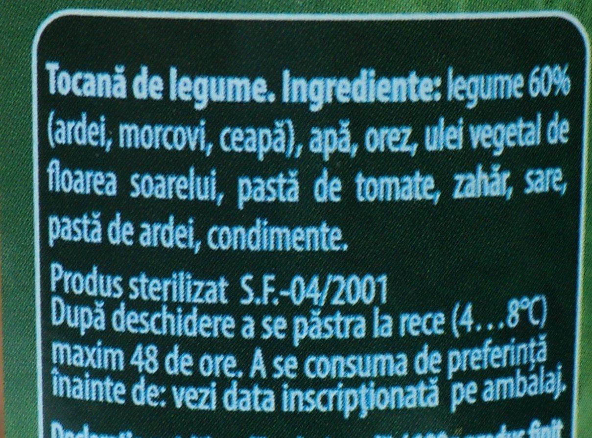 Olympia Tocană de Legume - Ingredients - ro