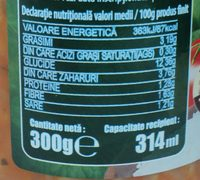 Olympia Tocană de Legume - Nutrition facts