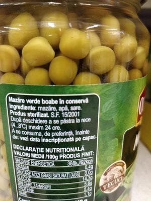 Mazare boabe - Ingredienti - ro