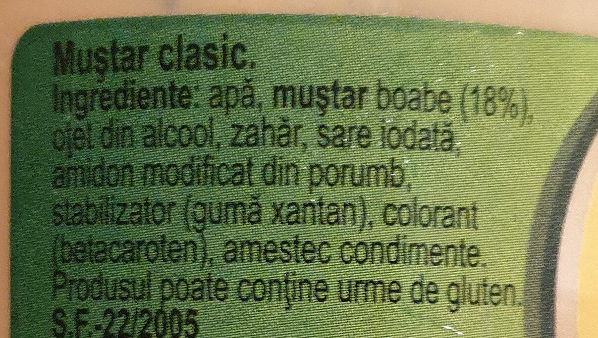 Classic Mustard - Ingredients - en