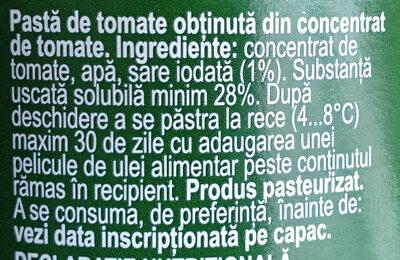 Olympia Pastă de tomate - Ingredients