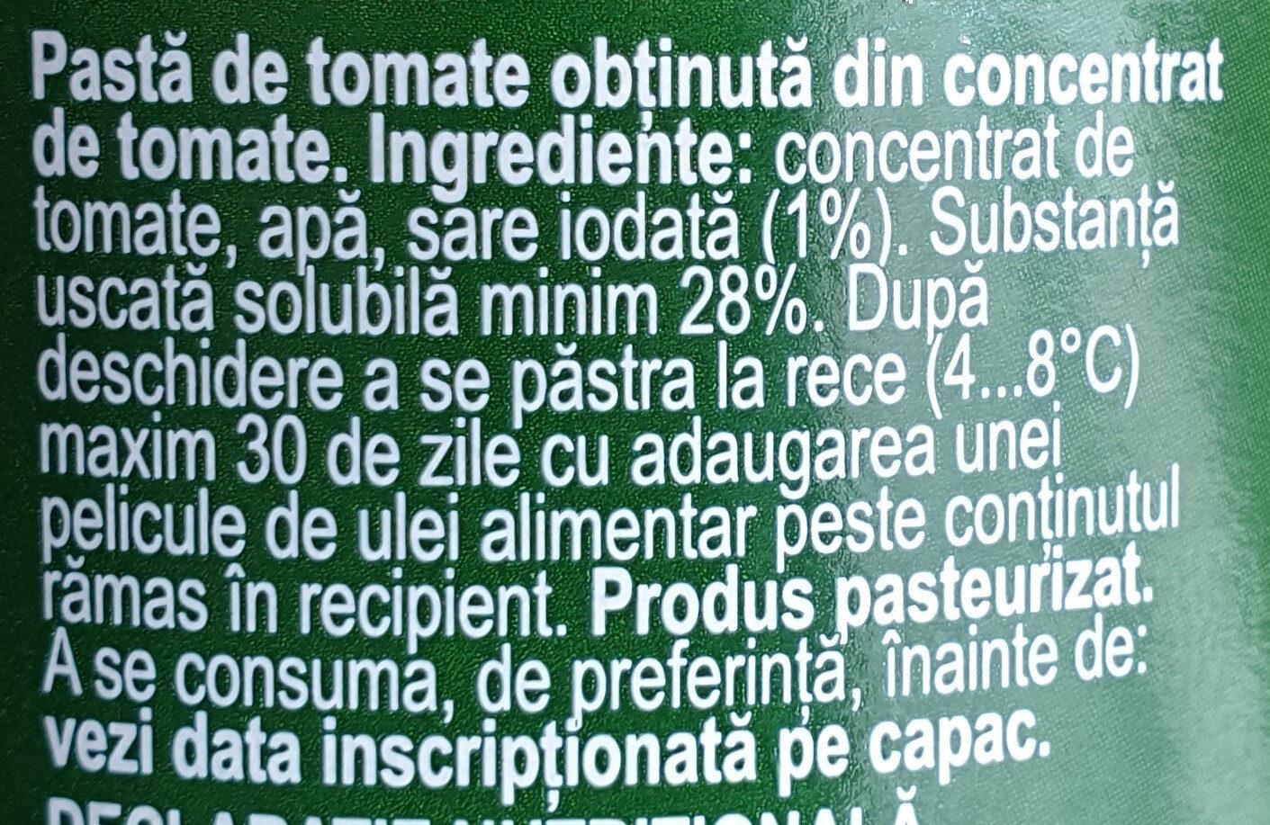 Olympia Pastă de tomate - Ingredients - ro