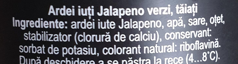 Olympia Ardei Jalapeno - Ingredients - ro