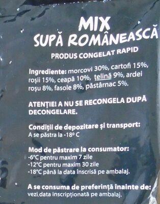 Olympia Mix supă românească - Ingredients - ro