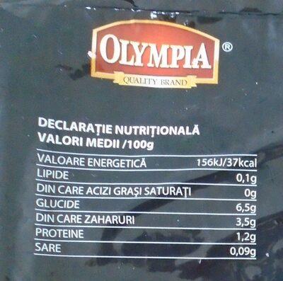 Olympia Mix supă românească - Nutrition facts - ro