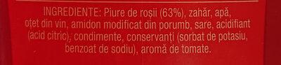 Tomi Ketchup Dulce - Ingrédients - fr