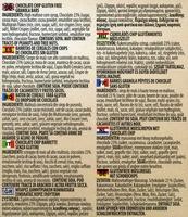 Gluten Free Chocolate Chips Granola Bars - Ingredients