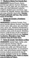 Gluten Free Blueberry Granola Bars - Ingrédients