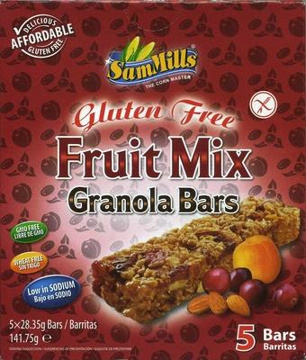 Gluten Free Fruit Mix Granola Bars - Producte - es