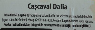 Solomonescu Cașcaval Dalia - Ingredients