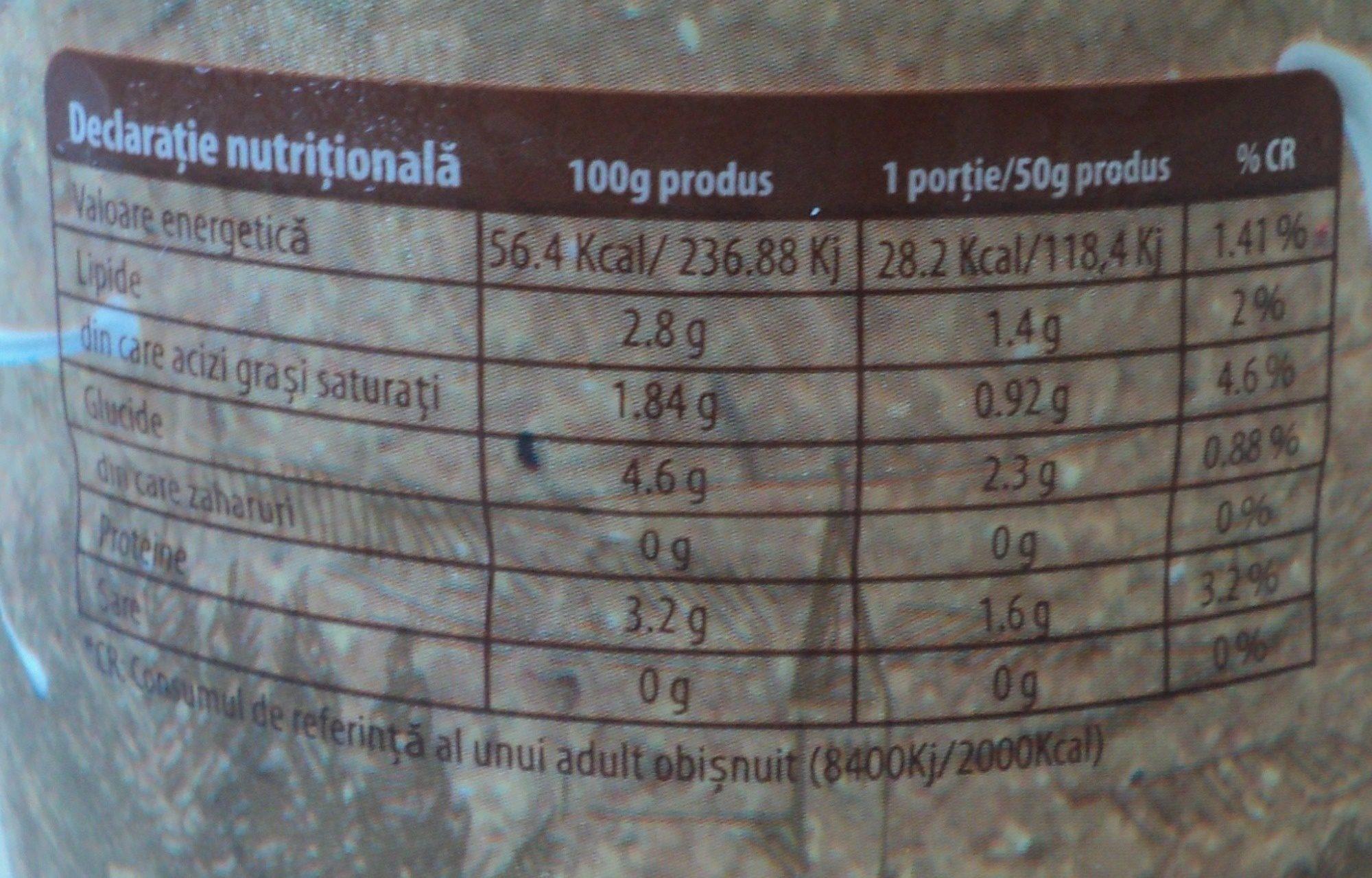 Solomonescu Iaurt 2,8% grasime cu fermenti bifidus - Nutrition facts - ro