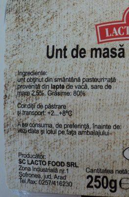Lacto Food Unt de masa cu sare de mare - Ingredients - ro