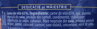 Atelier Mediaș Carne de vită - Ingrédients