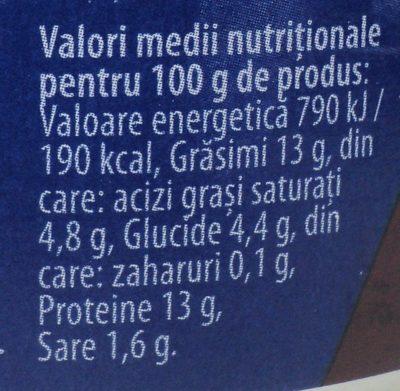 Atelier Mediaș Carne de vită - Informations nutritionnelles