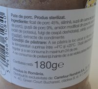 Drag de Romania Pate de porc - Ingrediënten
