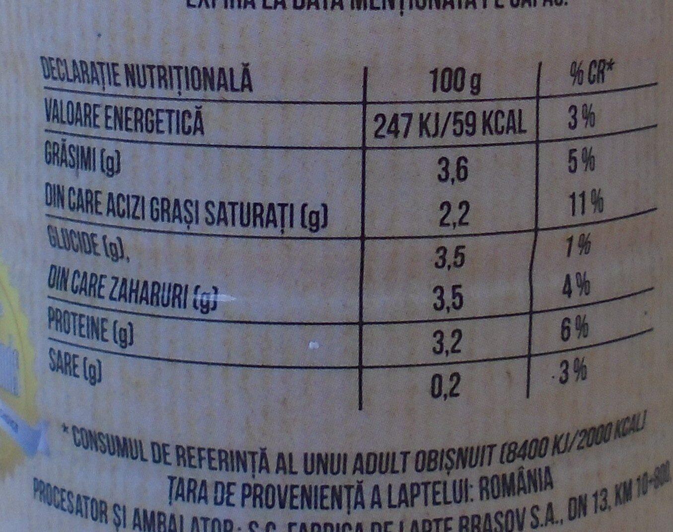 Olympus Sana - Nutrition facts - ro