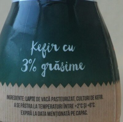 Olympus Kefir 3% grasime - Ingredients
