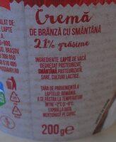 Olympus Cremă de brânză cu smântână - Ingredients - ro