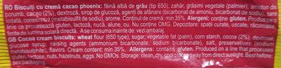 Phoenix Biscuiti cu crema cacao - Ingredients
