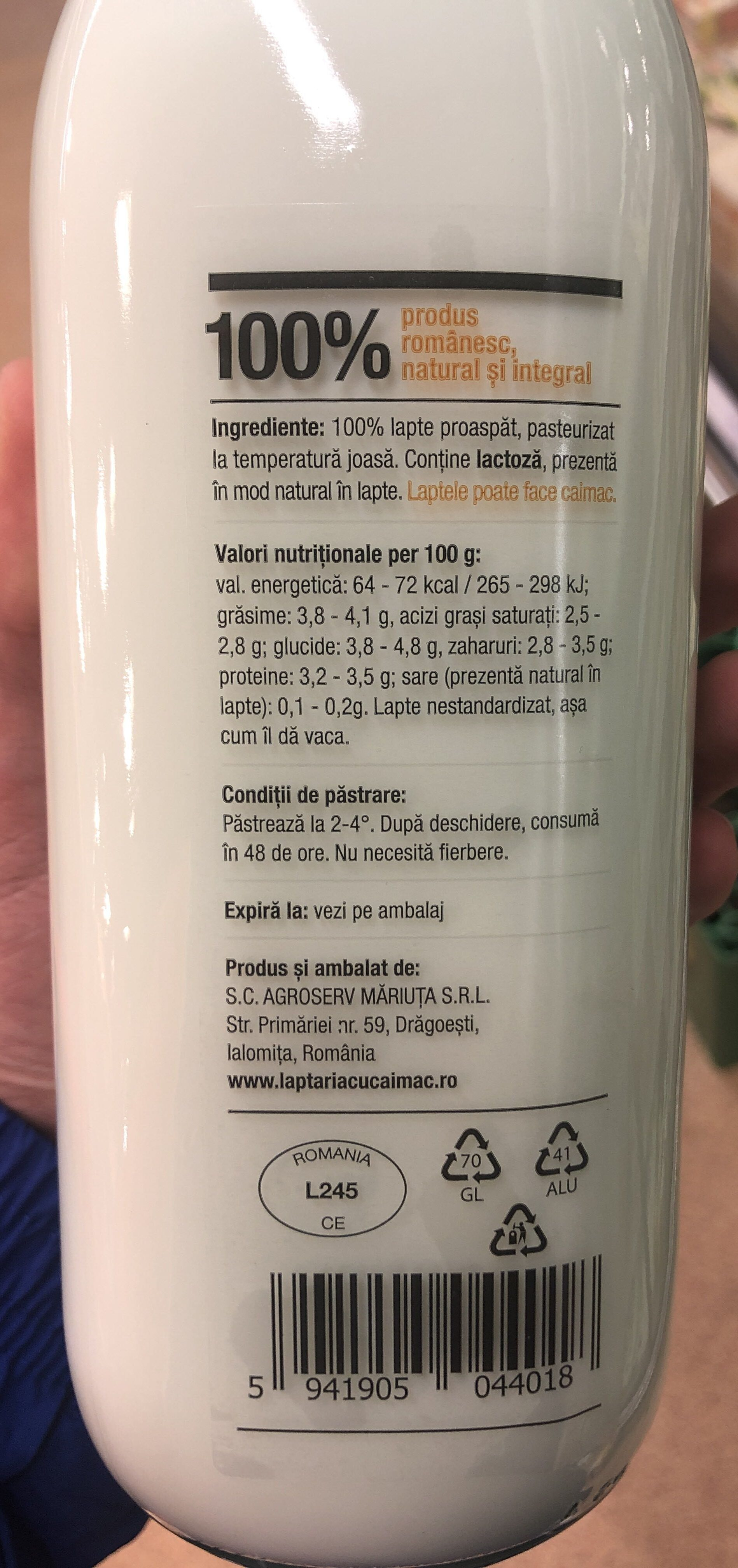 Lapte de vaca - Product - ro