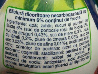 Santal Top Frutti Rossi - Ingrédients