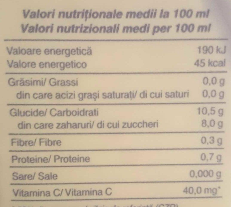 Santal portocale - Informations nutritionnelles - ro