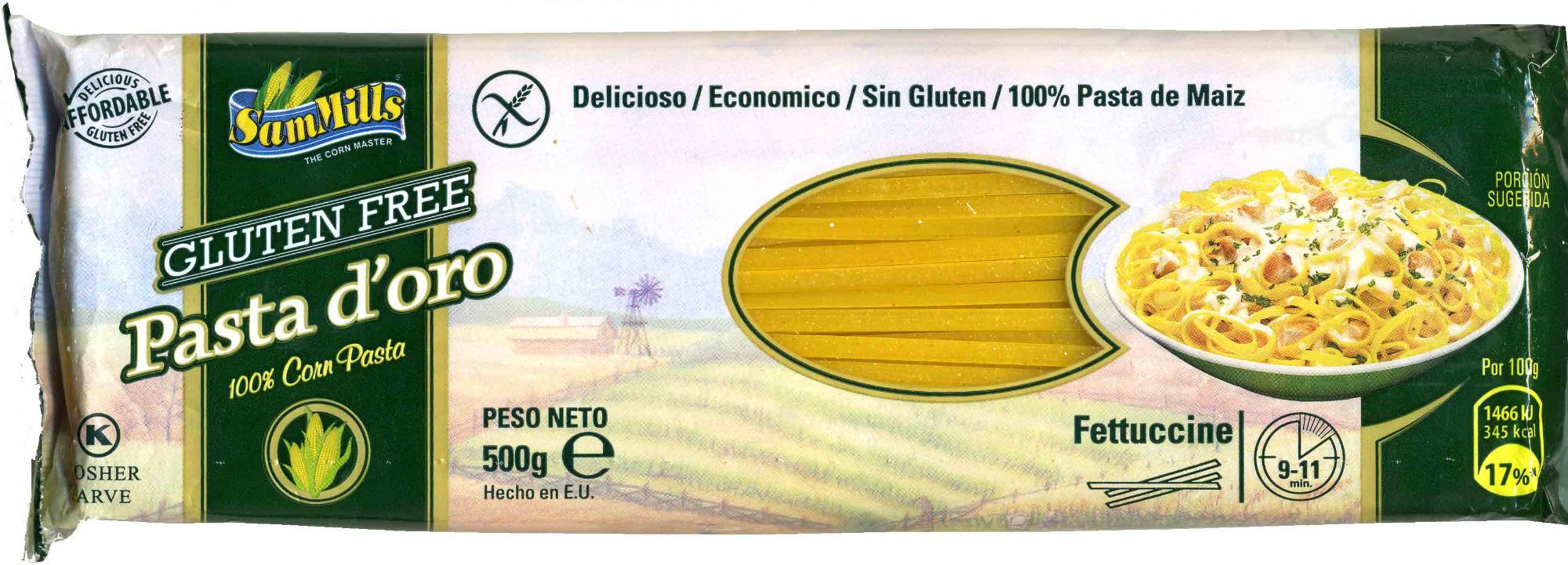 Fettuccine de maíz sin gluten - Producto - es