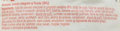 Musli cu 30% fructe - Ingrediënten