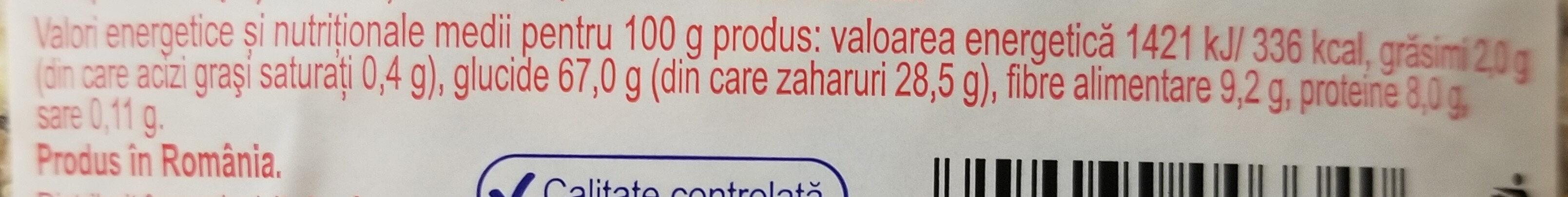 Musli cu 30% fructe - Voedingswaarden