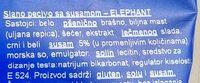 Elephant sa susamom - Ingredients - sr