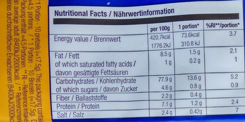 Elephant sa susamom - Nutrition facts - sr