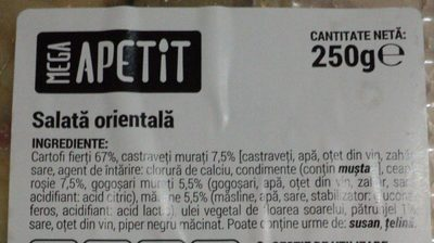 Mega Apetit Salata orientala - Ingredients