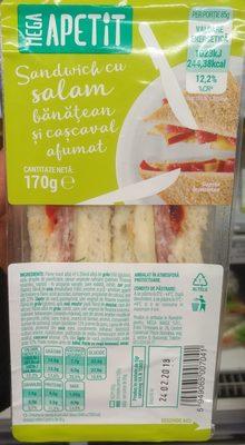 Mega Apetit Sandwich cu salam banatean si cascaval afumat - Product - ro