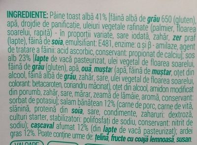 Mega Apetit Sandwich cu salam banatean si cascaval afumat - Ingredients - ro