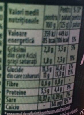 Activia musli - Nutrition facts - ro