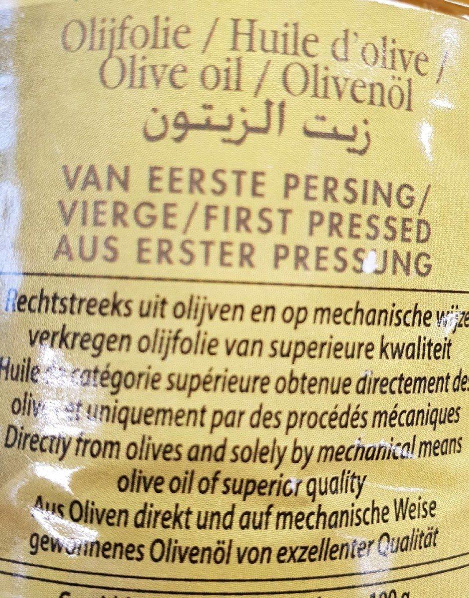 Huile d olive - Ingrediënten