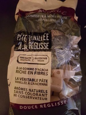 Pâte vanillé a la reglisse - Produit