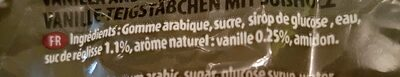 Pâte vanillé a la reglisse - Ingrédients
