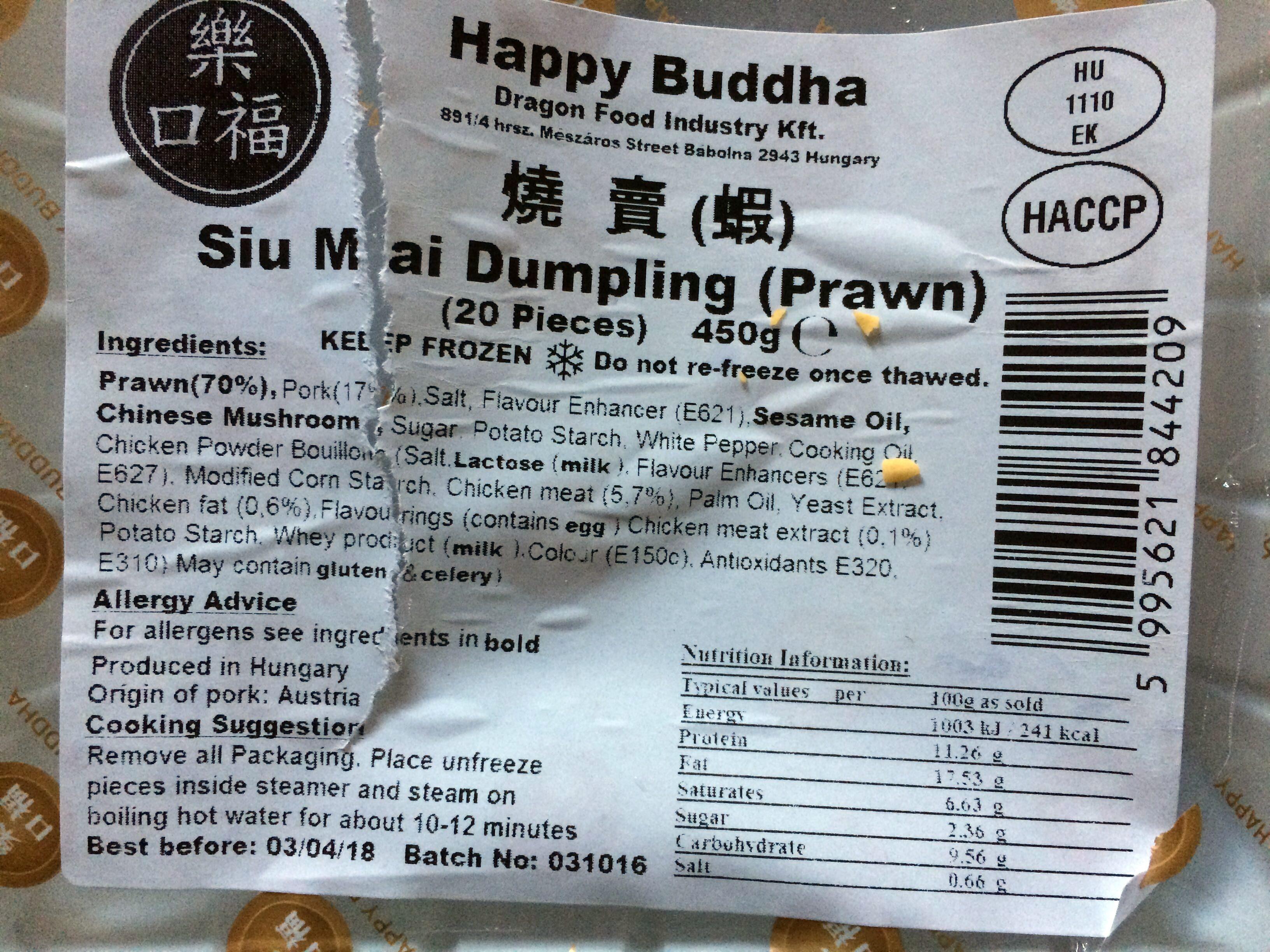 Sui Mai dumpling (prawn) - 20 pieces - Product - en