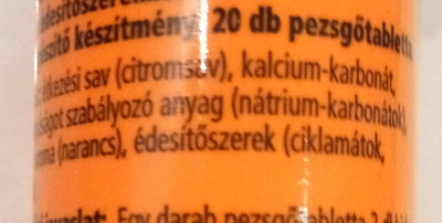 Kalcium pezsgő tabletta - Ingrediënten