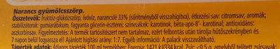 Tesco Narancs gyümölcsszörp - Ingrediënten