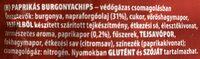 Paprikás chips - Ingredienti - hu