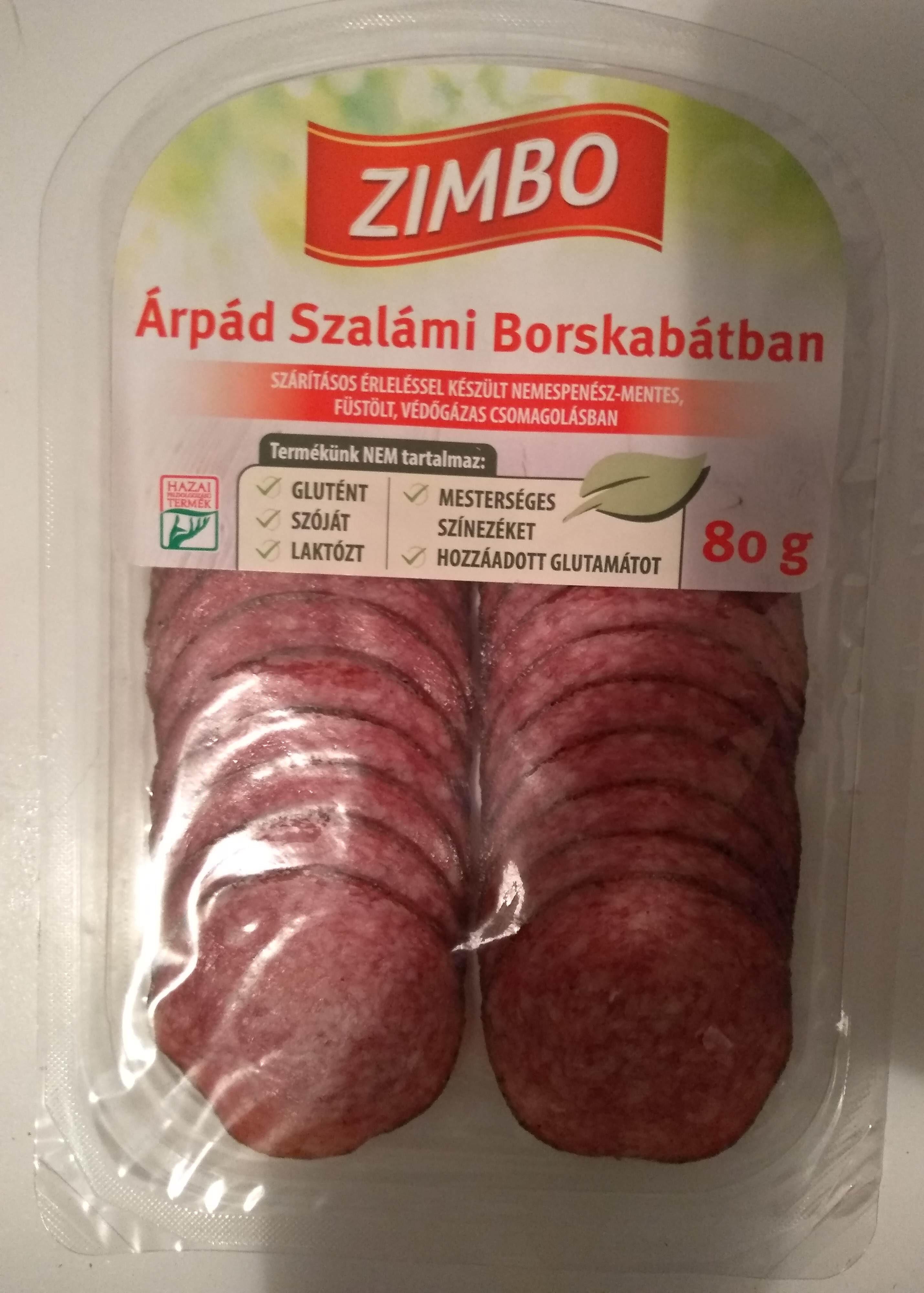 Árpád szalámi borskabátban - Product - hu
